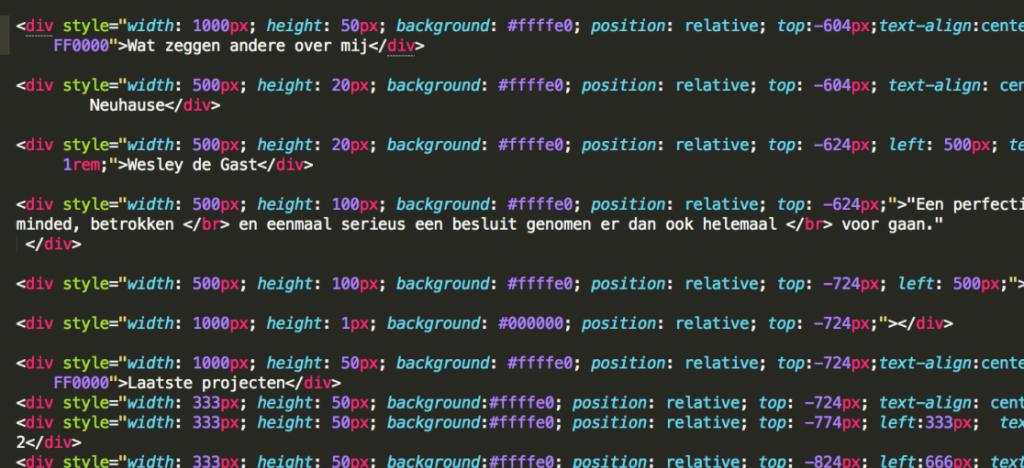 html-code-web-development